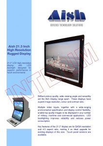 21 inch high res display